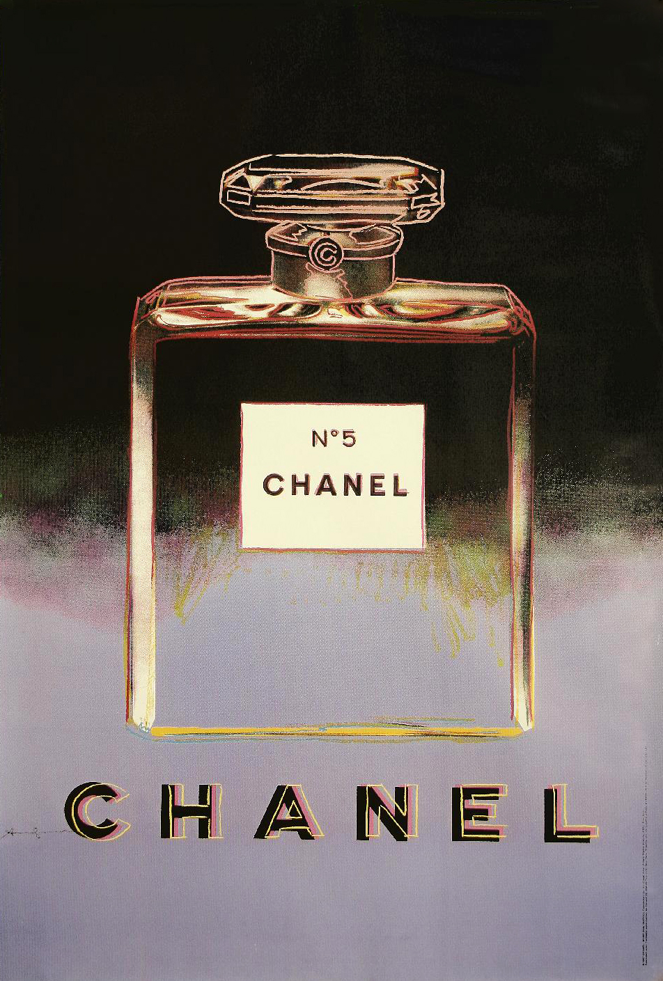 Image of Chanel no.5 (large - black/lavender) - WG00029