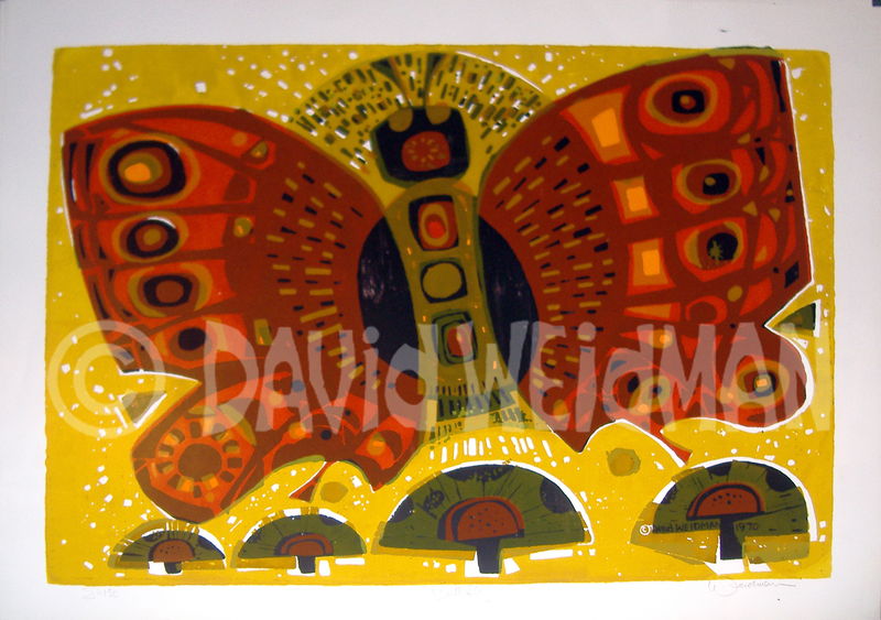 Image of Butterfly (Gold/Orange) - DW00021