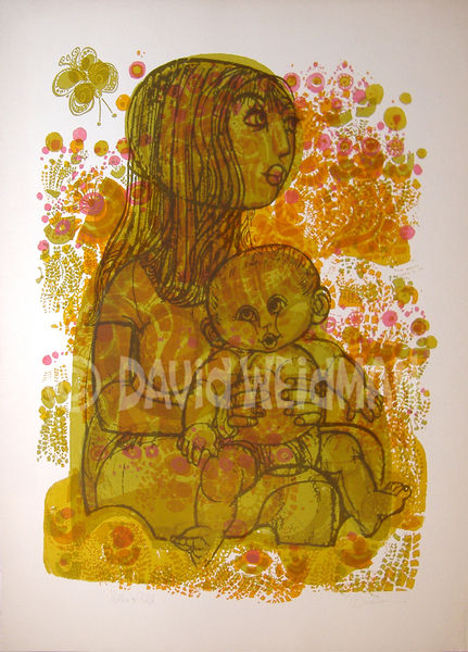 Image fo Mother & Child (Orange/Olive) - DW00026