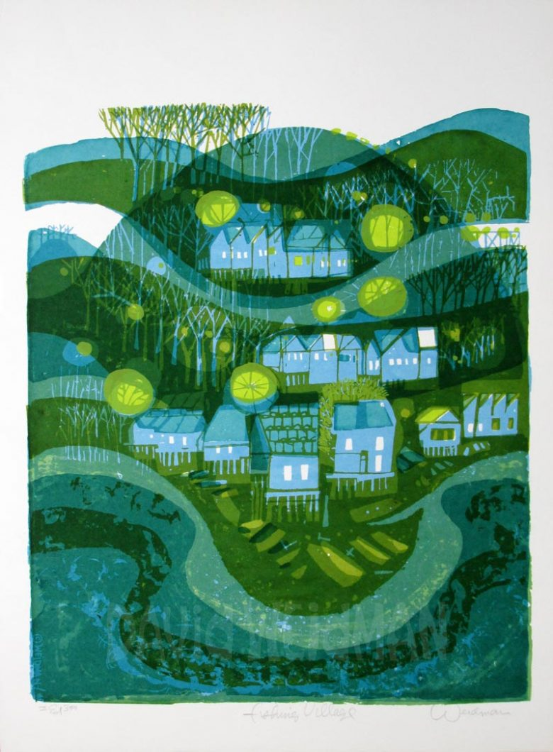 Image: Fishing Village (Blues) - David Weidman - DW00036
