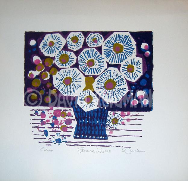 Image of Flowers In Vase (Purple) - DW00059