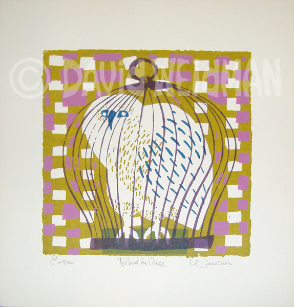 Image of Bird In Cage (Purple/Gold) - DW00074