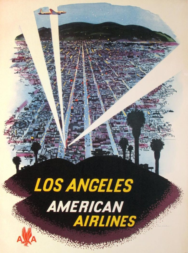Image of American Airlines - Los Angeles (searchlights) - WG00269