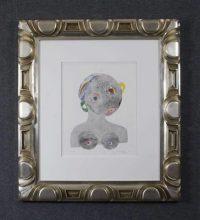 Image - Hand carved white gold leaf frame