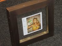 Image - Two sided custom welded steel frame with custom stain
