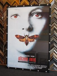 Image - Original Polish poster for silence of the lambs ina custom hand finished frame