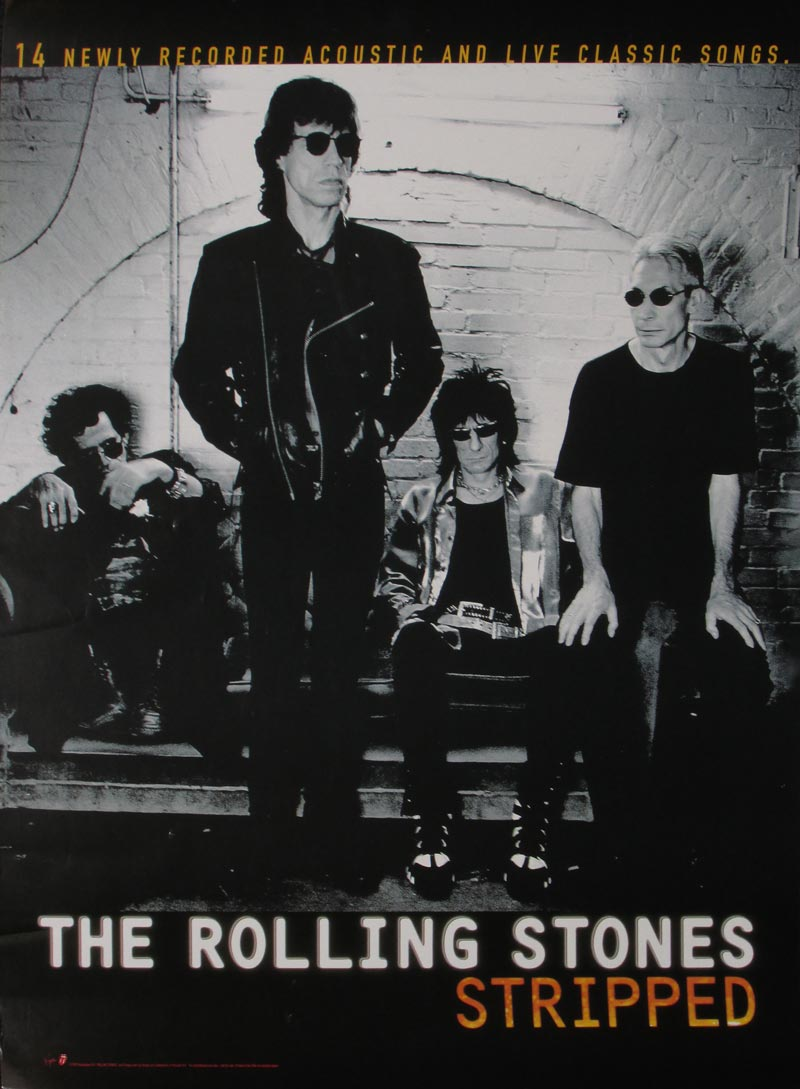 Image of The Rolling Stones - Stripped (promo poster) - BC00025