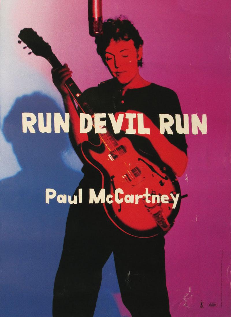 Image of Paul McCartney: Run Devil Run (record promo poster) - BC00029