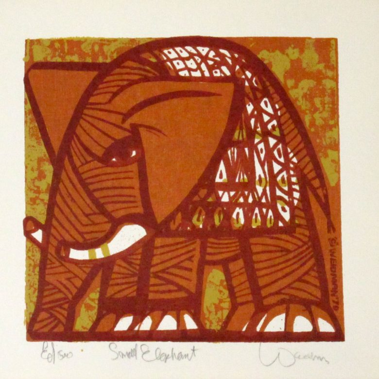 Small Elephant (Orange) - DW00067