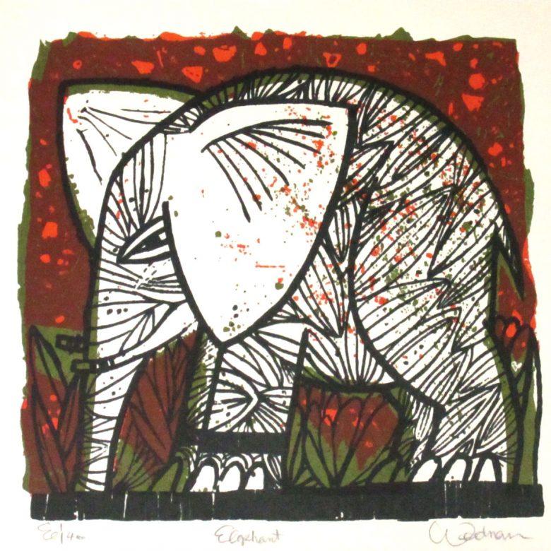 Elephant (Red) - DW00106