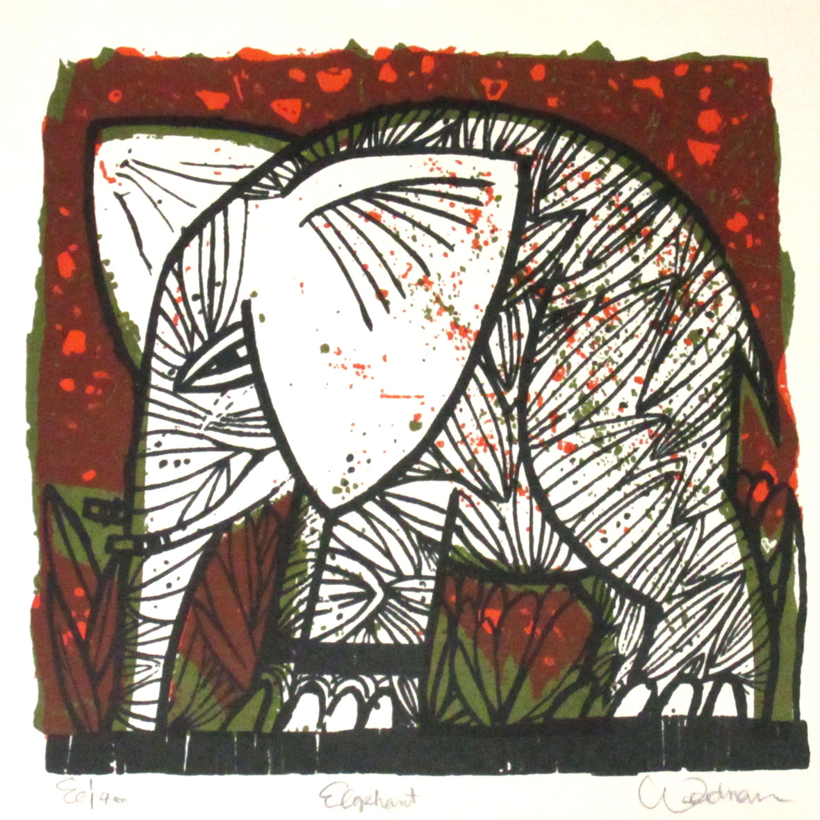 Elephant (Red) - DW00106