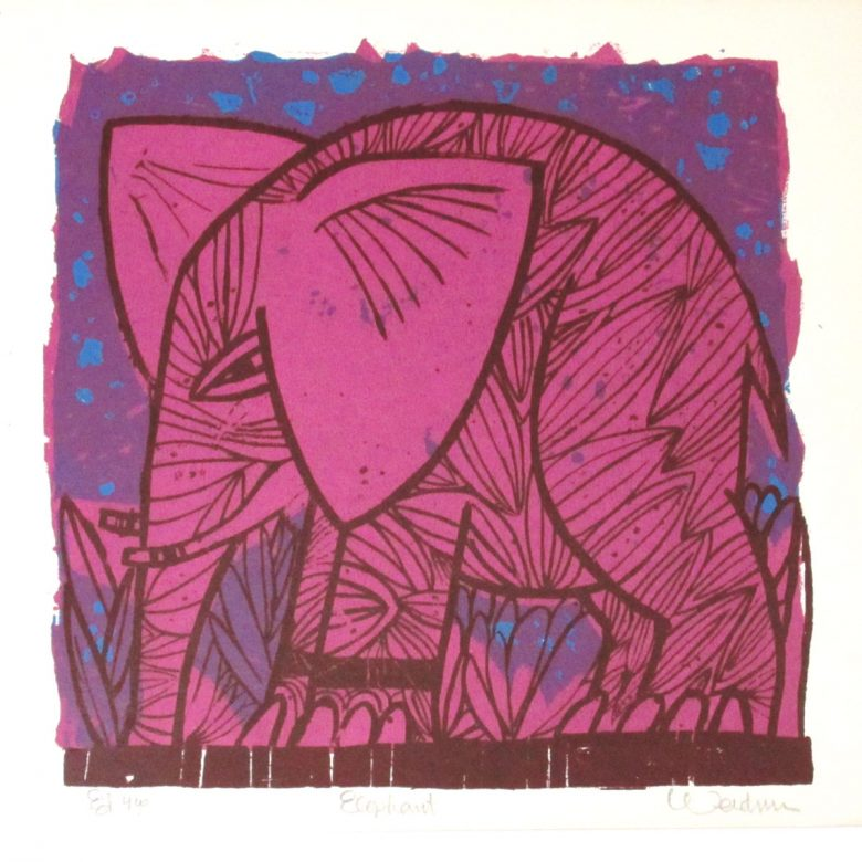 Elephant (Violet) - DW00108