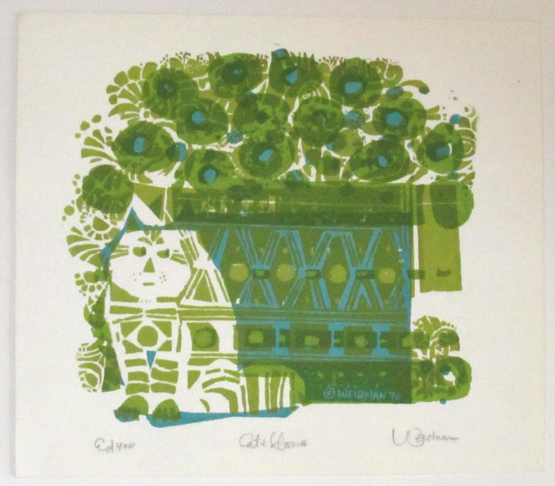 Cat and Flowers (Lime) - DW00141