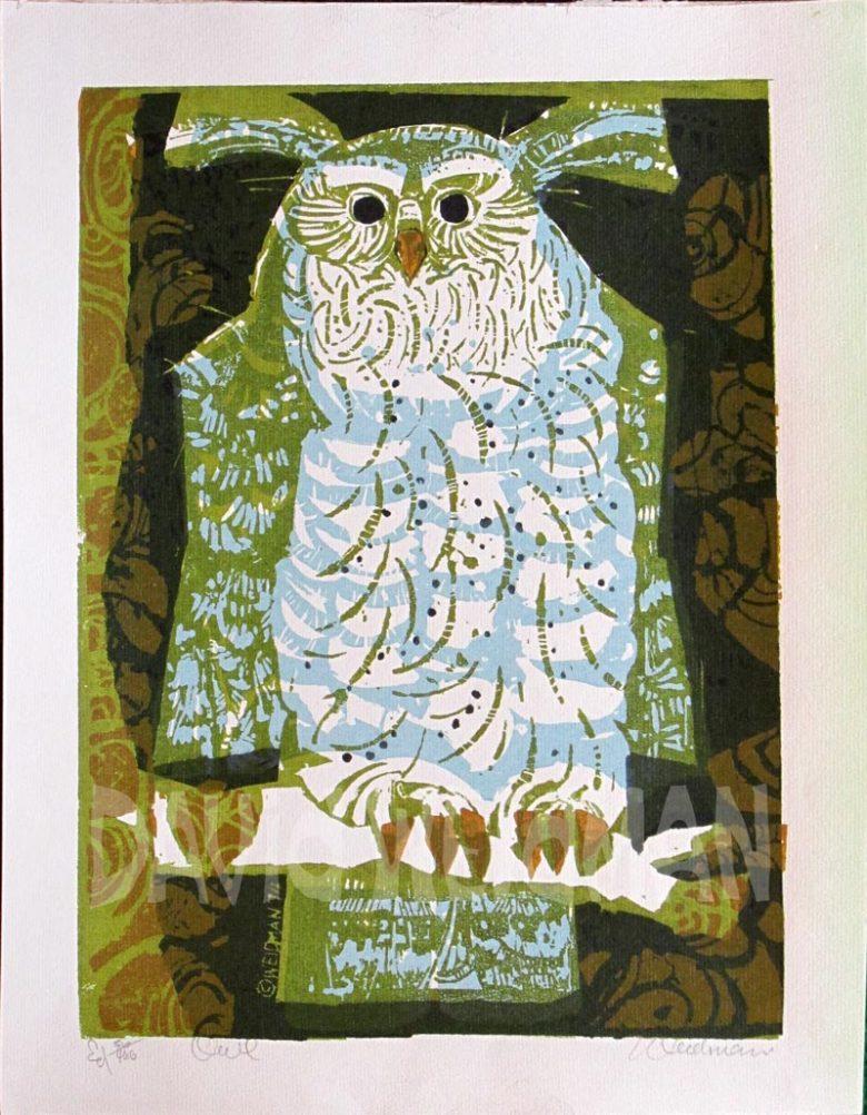 Image of Owl (Blue) - DW00167