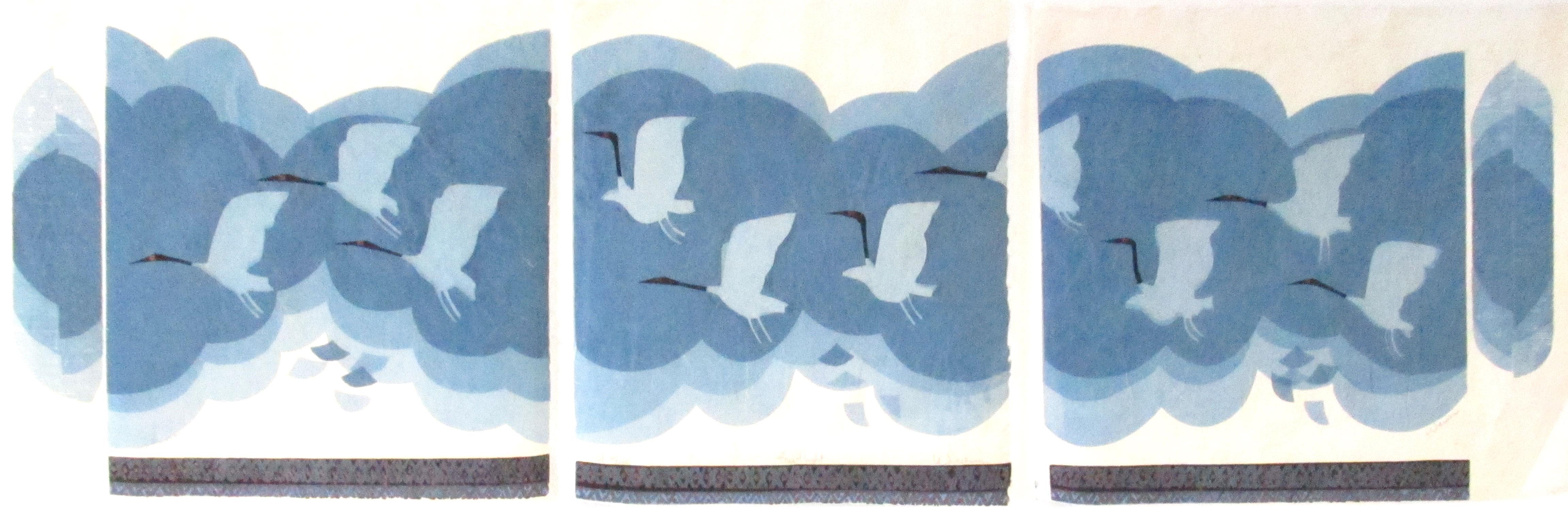 Free Flight (Blue/Rice/Tryptych) - DW00002