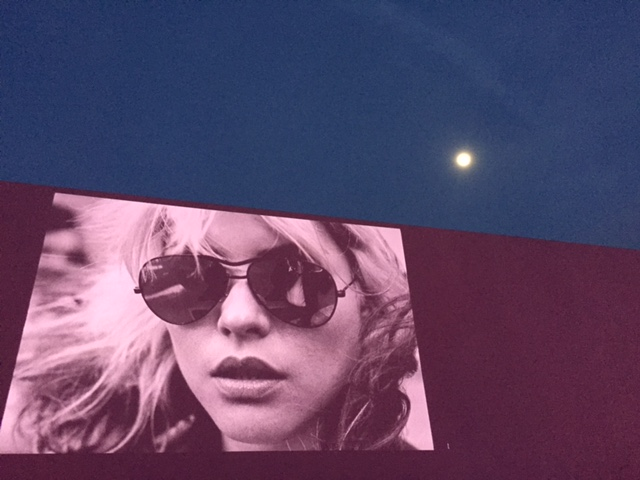 Debbie Harry on the Paul Smith building (photo by Janet Zimberg)