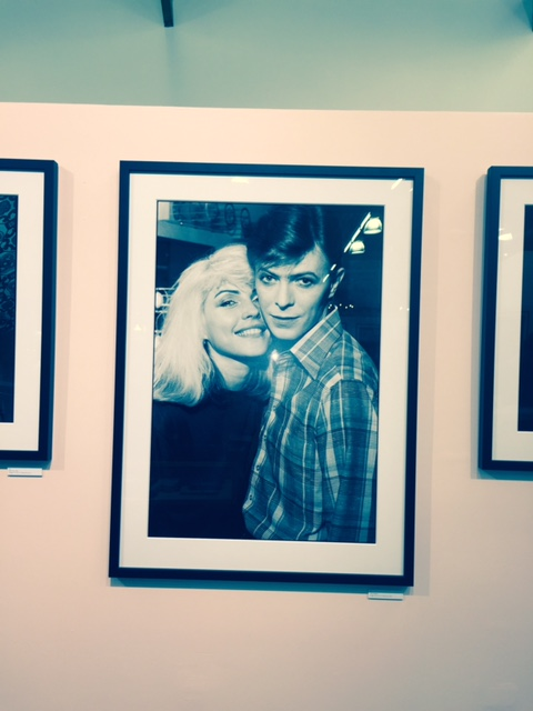 Debbie Harry and David Bowie (photo by Janet Zimberg)