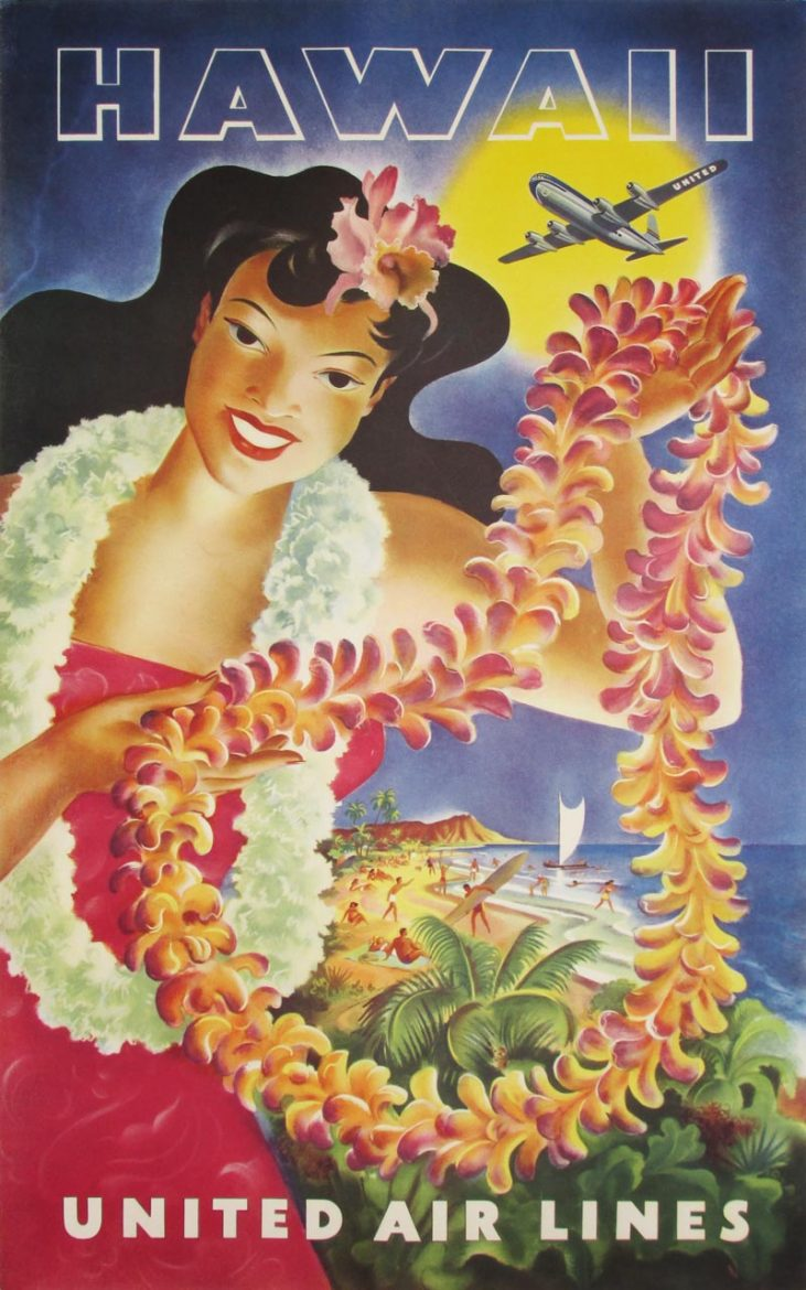 Image of United Air Lines - Hawaii - poster - WG00495