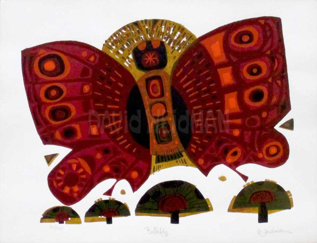 Image of Butterfly (White/Red) - DW00019