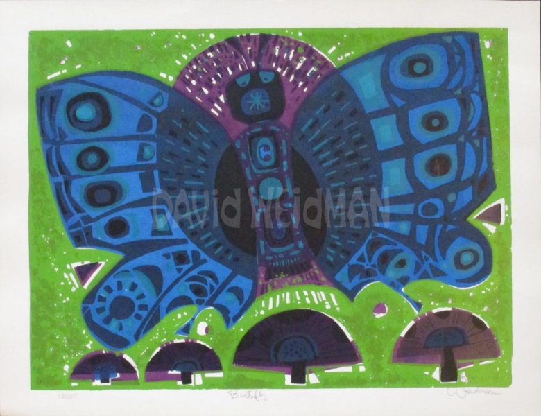 Image of Butterfly (Lime/Blue) - DW00020