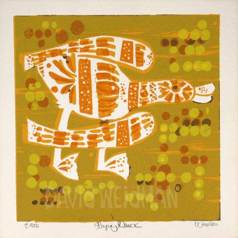 Image of Flying Duck (Yellow) - David Weidman - DW00160
