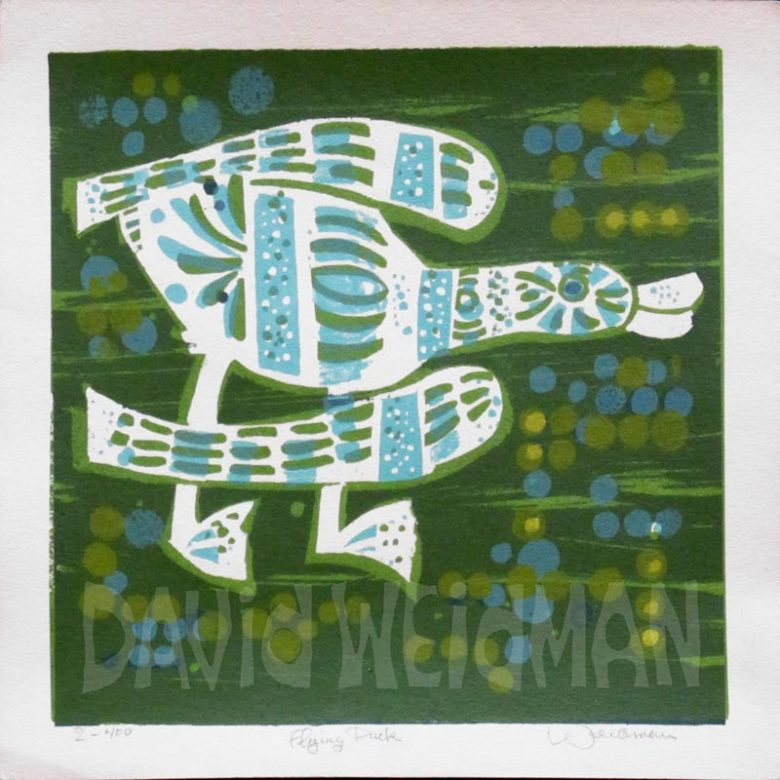 Image of Flying Duck (Green) - DW00161