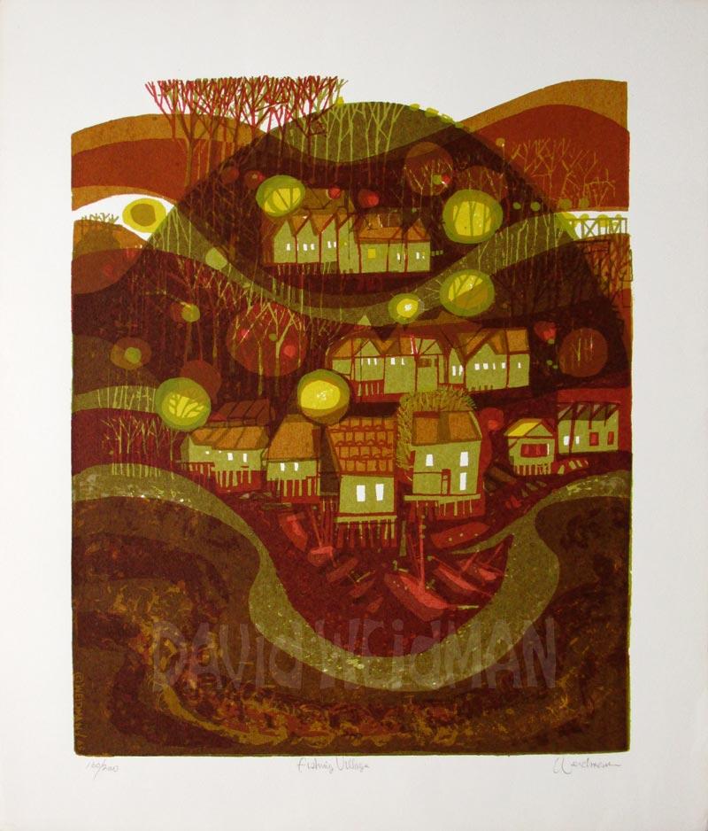 Image: Fishing Village (Brown) - David Weidman - DW00165