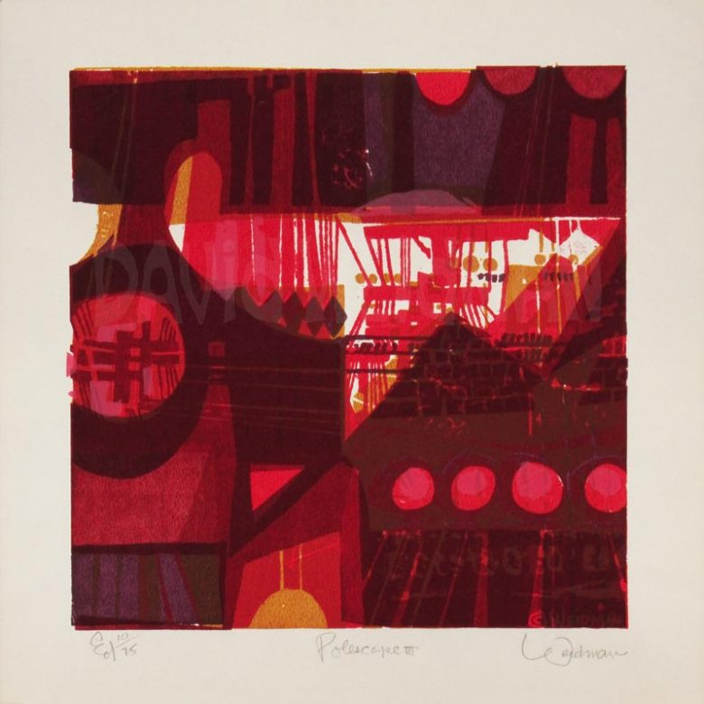 Image of Polescape III (Red) - David Weidman - DW00170