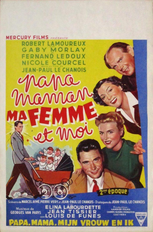 Image of Papa, Mama, My Wife and Me - Belgian one sheet - WG00393