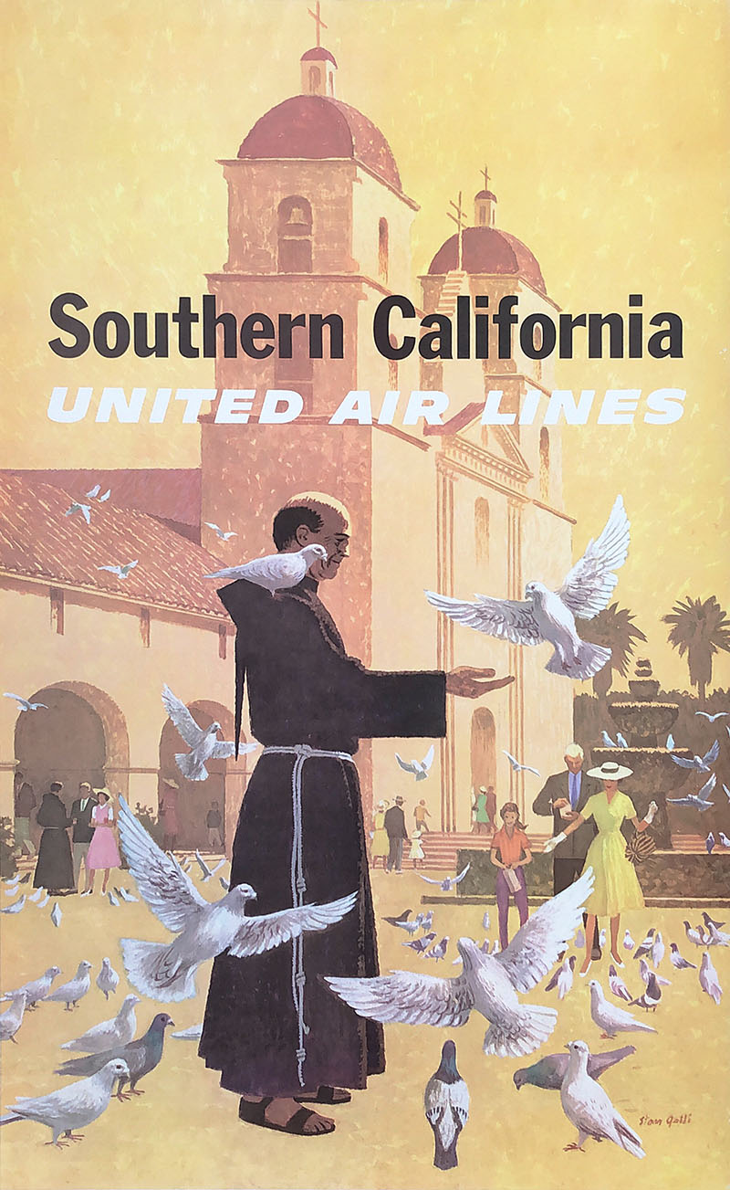 Image of United Air Lines - Southern California - Stan Galli - poster - WG00535