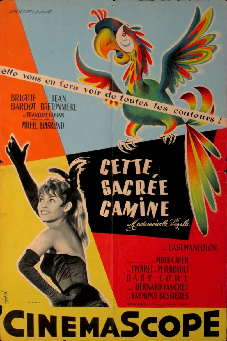 Image of Cette, Sacree, Gamine (Naughty Girl) - French poster - JR00011
