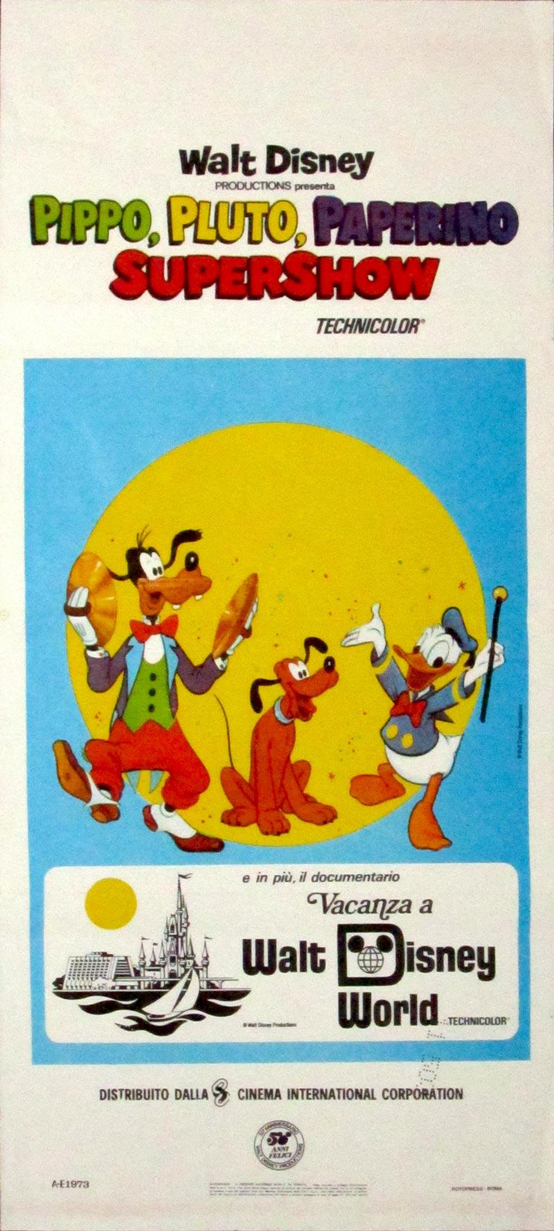 Image of Disney Supershow - Italian locandina poster - JR00026