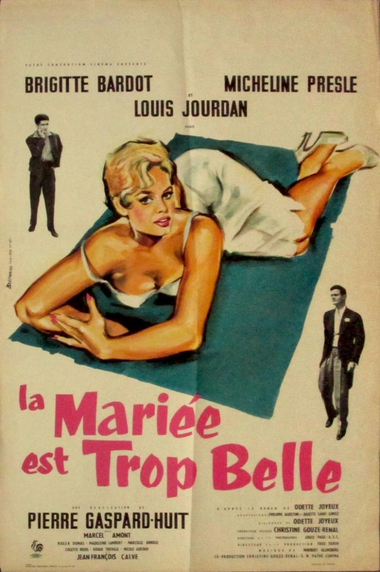 Image of The Bride is much too Beautiful - French mini poster - JR00106