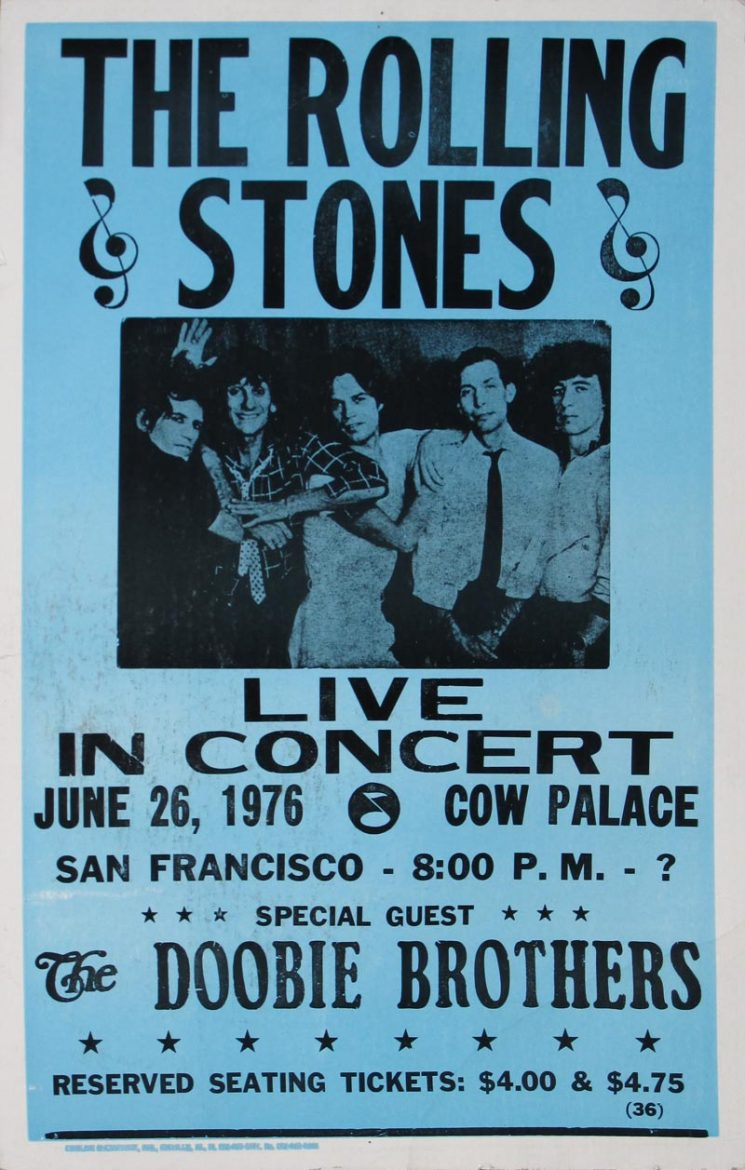 Image of The Rolling Stones - Cow Palace - 1976 - poster - WG00252