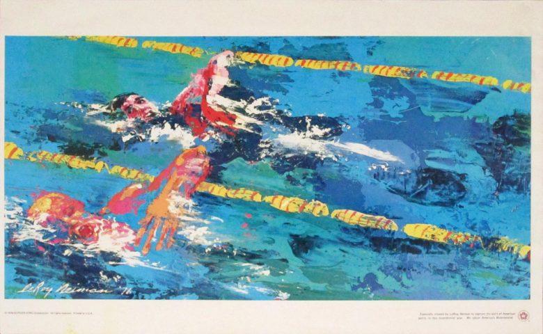 Image of Swimming by Leroy Neiman - WG00387