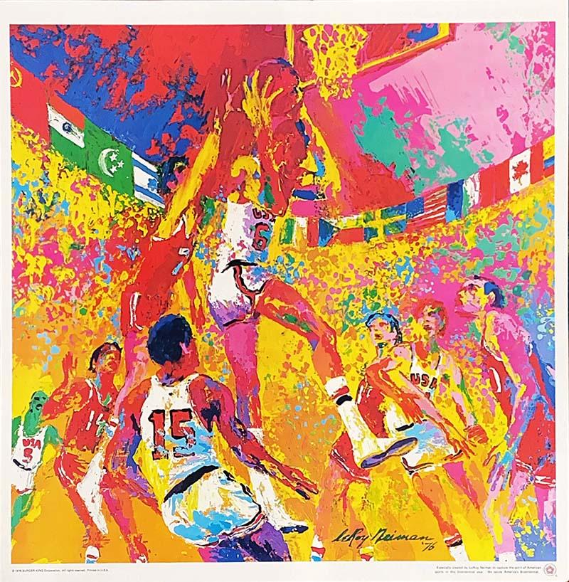 Image of Basketball by Leroy Neiman - WG00388