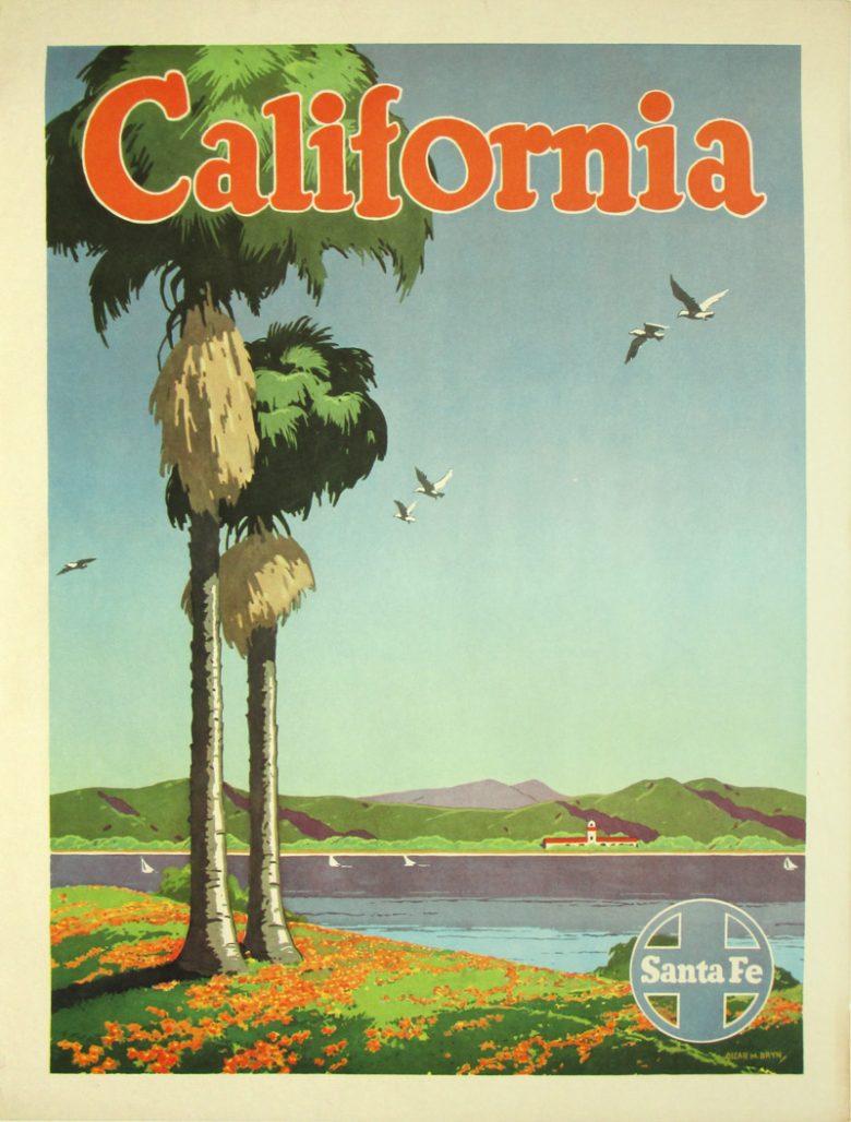 Image of Santa Fe Rail - California - poster - WG00547