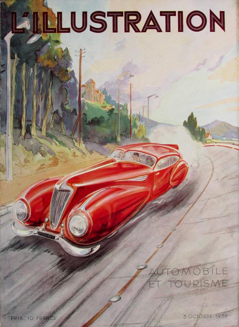 Image of L'ILLUSTRATION Automobile et Tourisme - magazine cover - Geo Ham - WG00473