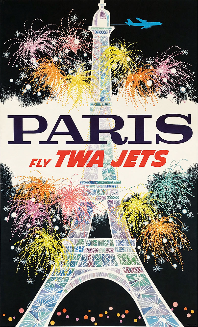 Image of TWA - Paris - Poster - David Klein - WG00536