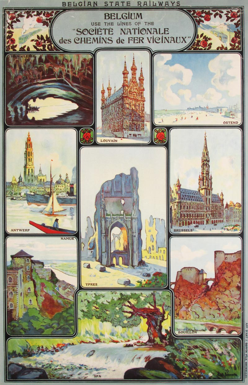Image of Belgian State Railways - Travel poster - GG00008