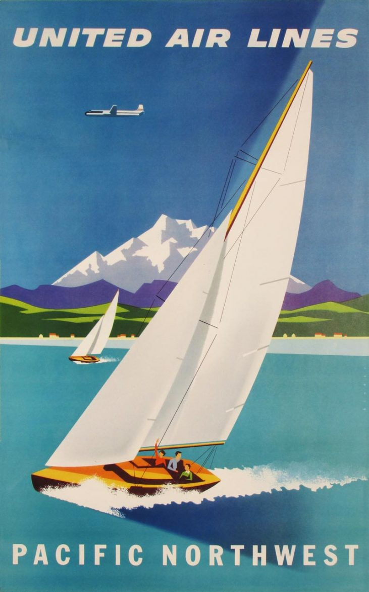 Image of United Air Lines - Pacific Northwest - travel poster - WG00581