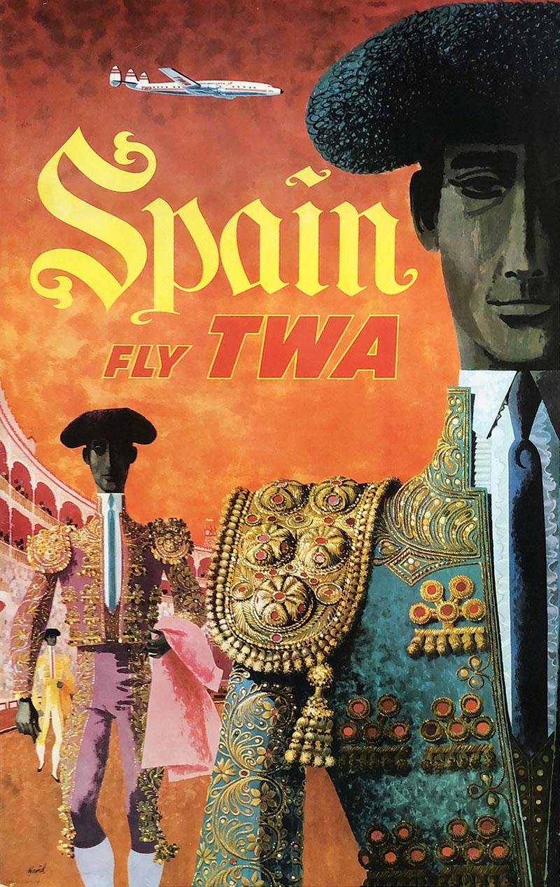 Image of TWA - Spain - travel poster - WG00582