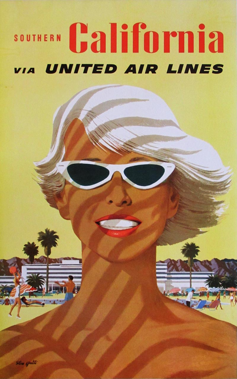 Image: United Air Lines - Southern California - travel poster - WG00583