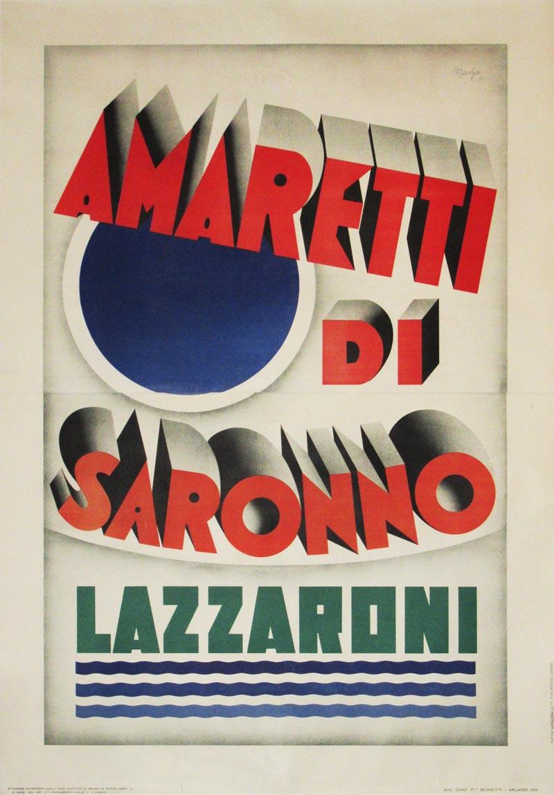 Image of Amaretti di Saronno - Italian poster - DY00003