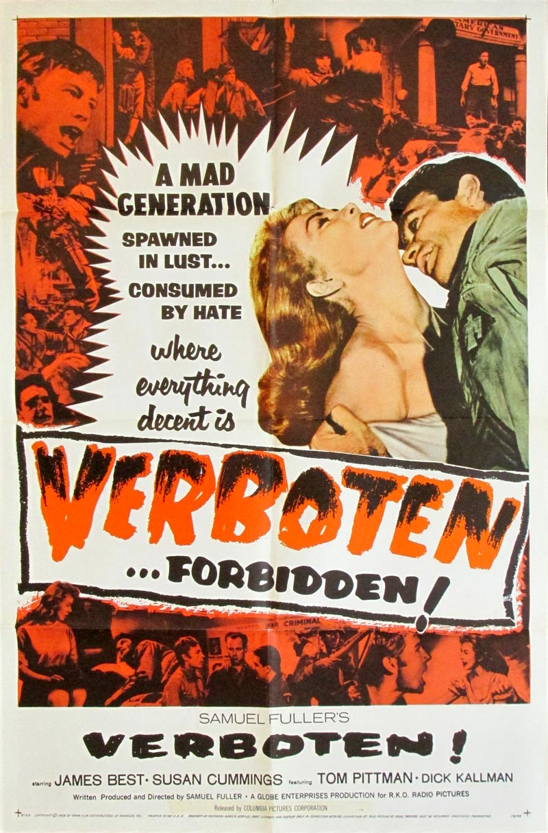 Image of Verboten! - U.S. one sheet - movie poster - WG00682
