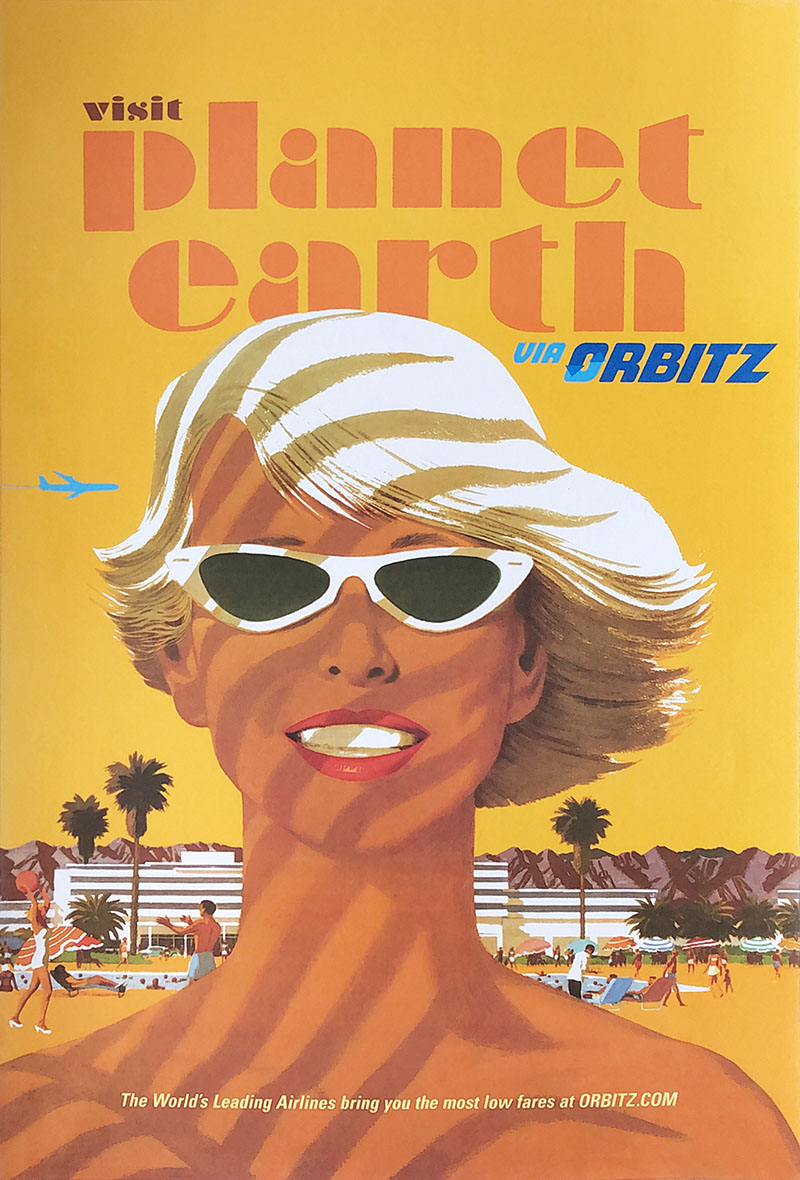 Image of Orbitz.com - Planet Earth - Travel poster - WG00689