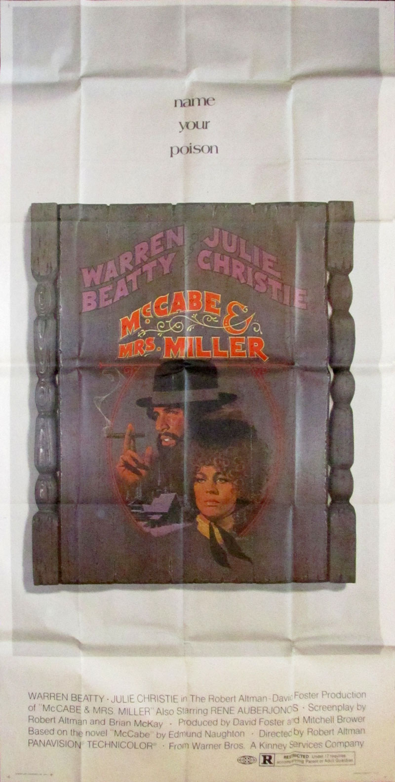 Image of McCabe & Mrs. Miller - U.S. three sheet - movie poster - WG00706