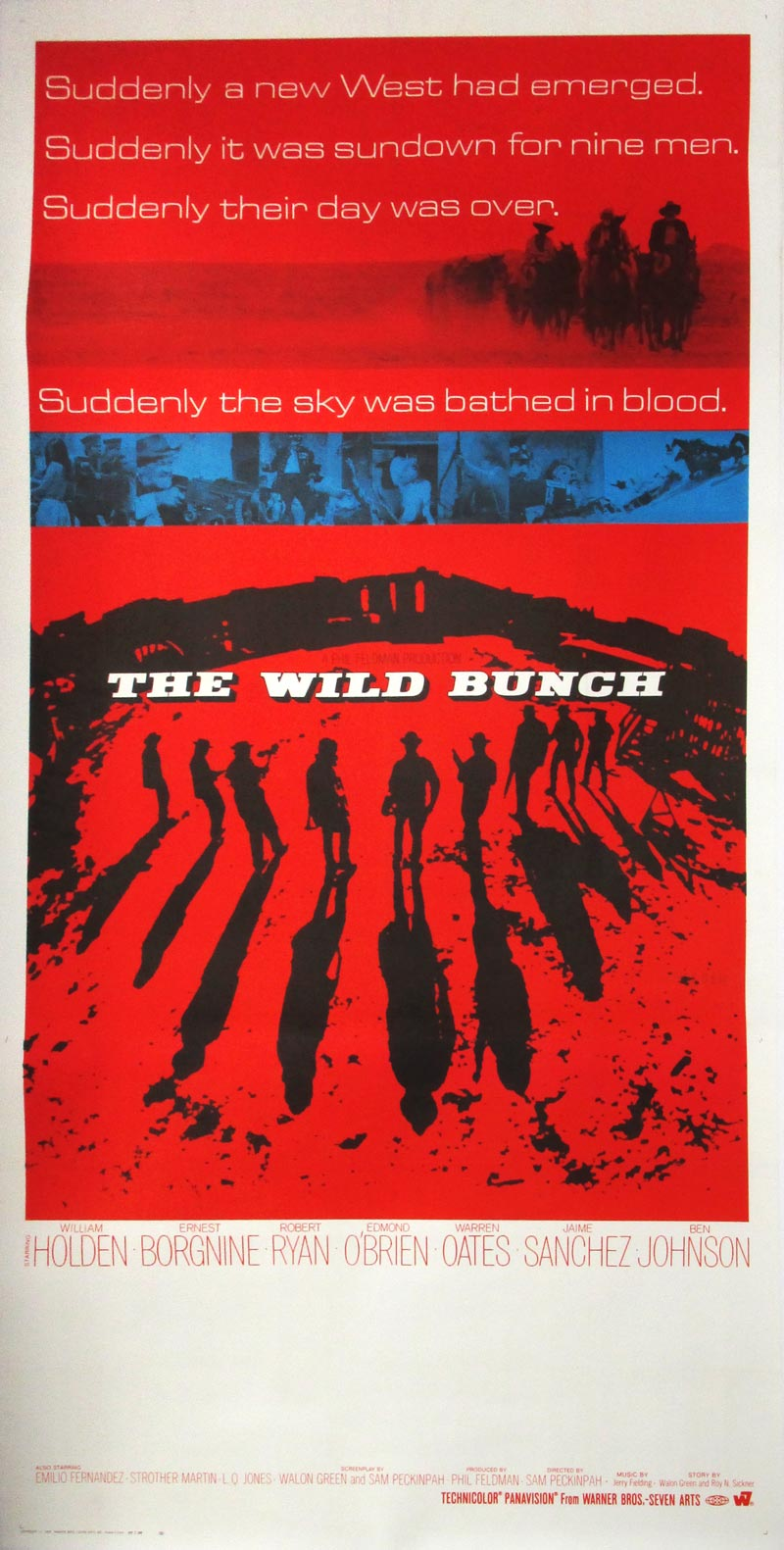 Image of The Wild Bunch - International three sheet - movie poster - WG00708