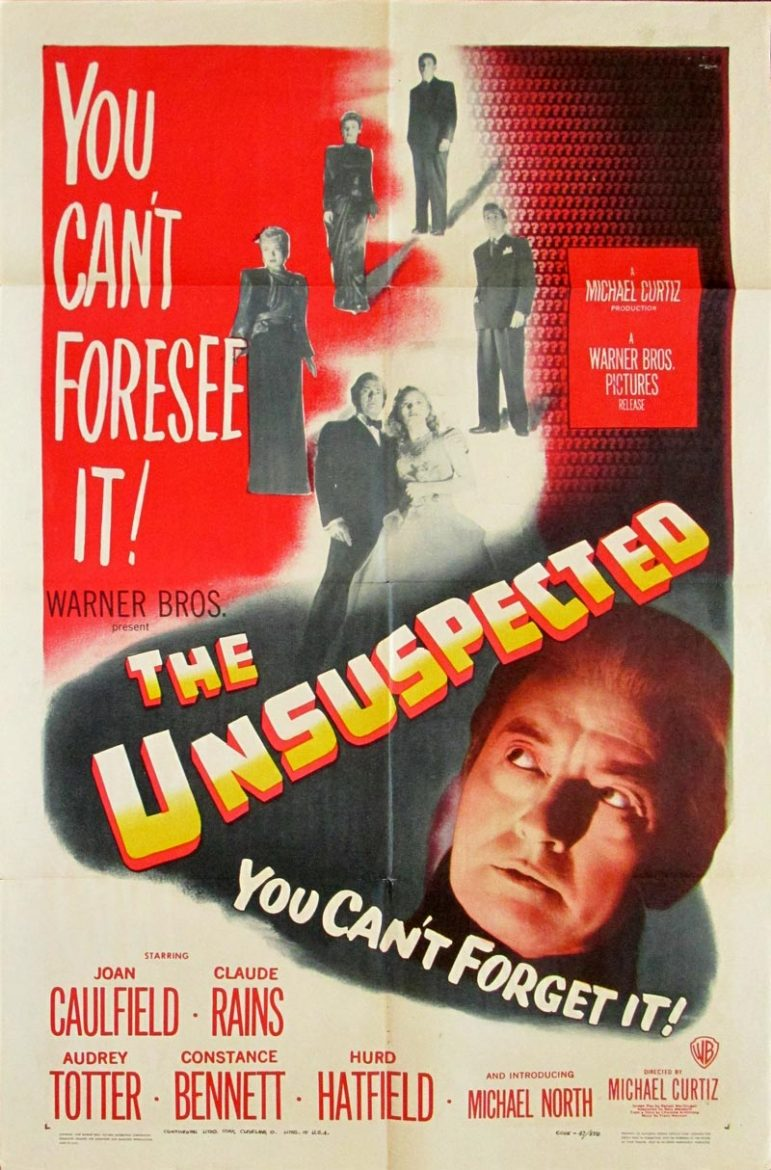 Image of The Unsuspected - U.S. one sheet - movie poster - WG00718