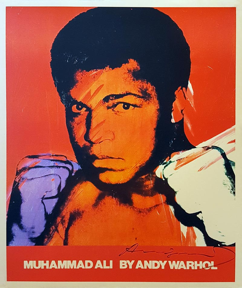 Image of Muhammad Ali by Andy Warhol - poster - WGR0042